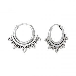 Bali Hoop zilver