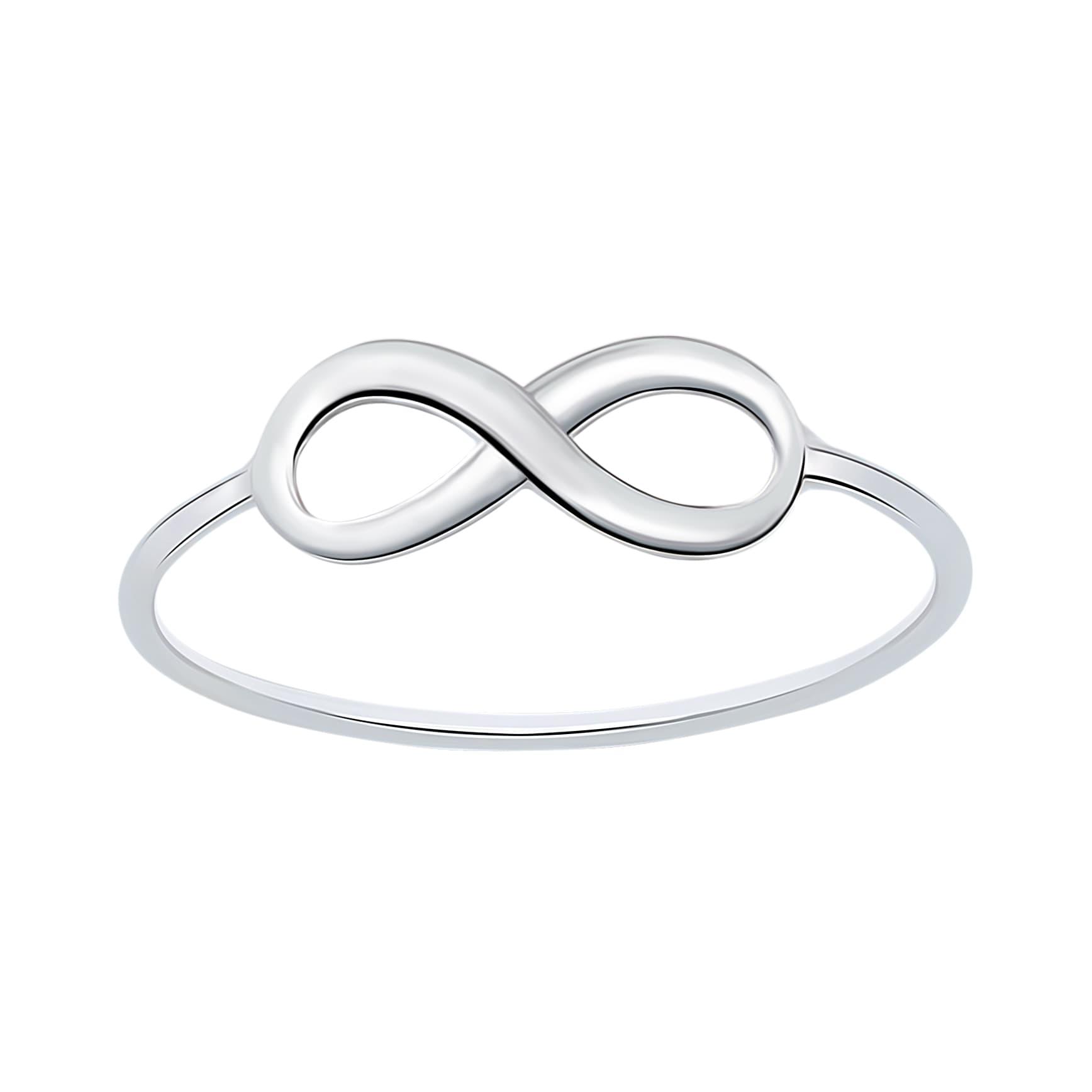Zilveren ring met infinity symbool