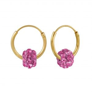 Gold plated roze kristal