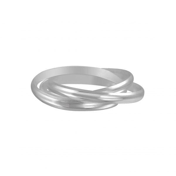 Zilveren ring met drie ringen