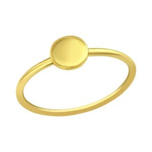 Rond gold plated