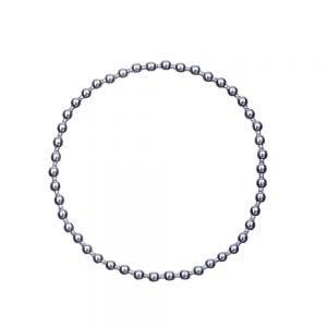 Elastische armband met zilveren bolletjes