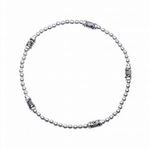 Zilveren armband met bedeltjes
