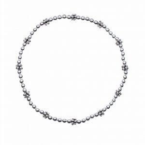Zilver armband met bedels (bolletjes)