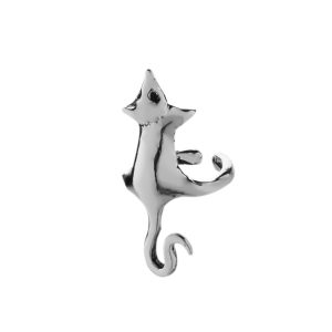 Zilveren ear cuff muis